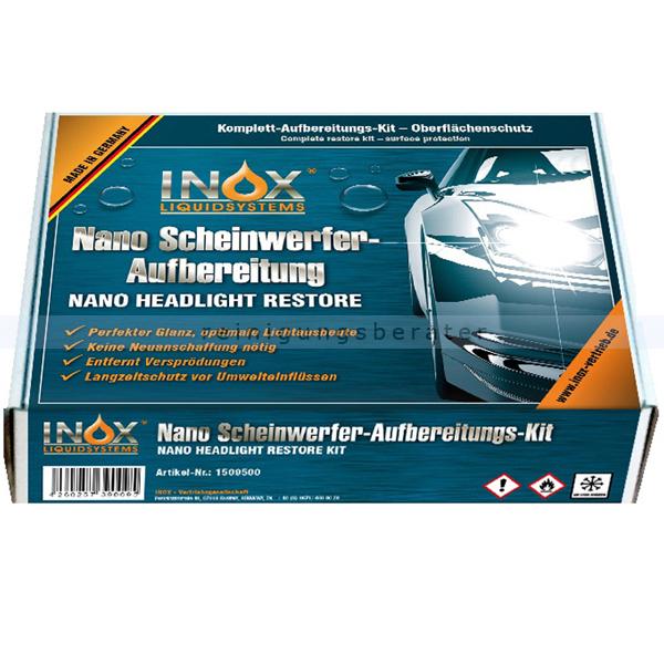 INOX Scheinwerferaufbereitung Box Kunststoffpflege keine Neuanschaffung nötig 1509500