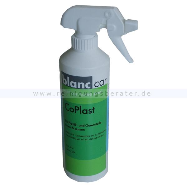 Kunststoffpflege,Gummipflege Blanc Car Co Plast 500 ml für alle Kunststoff- & Gummiteile im Innen- + Außenbereich 356345