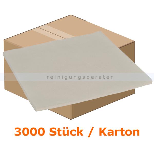 Lätzchen Abena Dental Einweglätzchen 37 x 38 cm weiß Karton