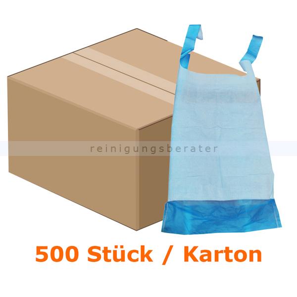 Lätzchen, Ampri Einmal-Lätzchen zum Binden, 64 x 36 cm Einmal-Esslätzchen mit blauer PE-Folie, 500 Stück/Karton 730365