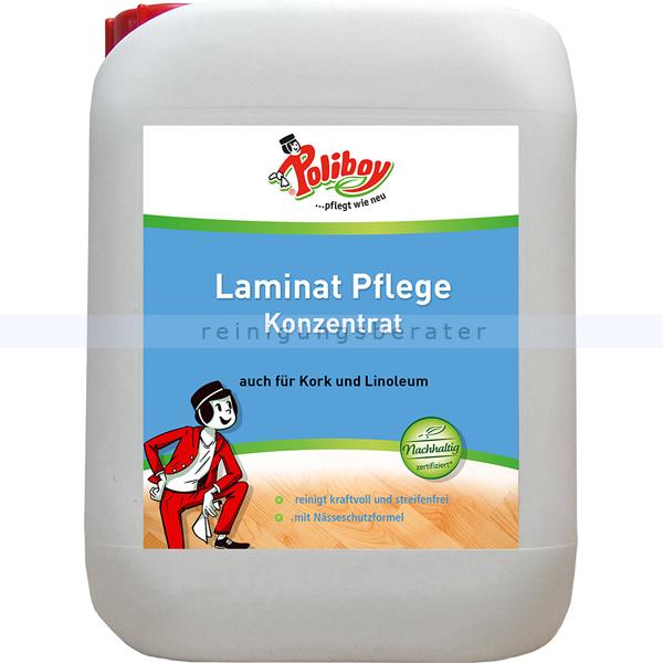 Laminatreiniger Poliboy Laminat Pflege Konzentrat 5 L Geeignet für Laminat, Kork und Linoleum 61L0501