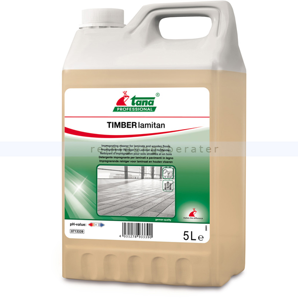 Tana TIMBER lamintan 5 L, Laminatunterhaltsreiniger imprägnierender Reiniger für Laminat und Hartbodenbeläge 713339