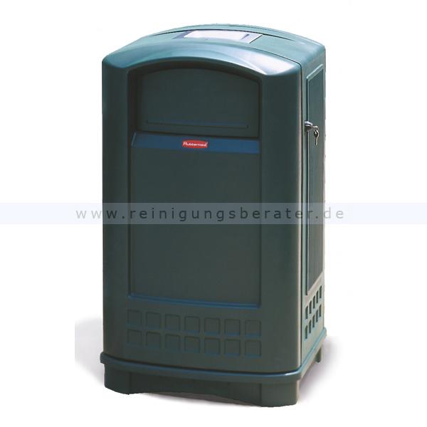 landmark container mit aschenbecher rubbermaid gr n. Black Bedroom Furniture Sets. Home Design Ideas