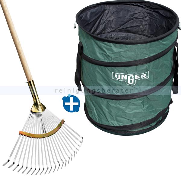 ReinigungsBerater Laub Herbstset 2 teilig im Sparset 3 inkusive Laubbesen und Laubsack mit 180 L Fassungsvermögen NB30B