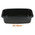 Lebensmittelschalen, Plastikschalen schwarz 400 ml, 50 Stück
