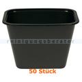 Lebensmittelschalen, Plastikschalen schwarz 900 ml, 50 Stück