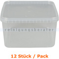 Lebensmittelschalen Stapelbehälter groß transparent 16 Stück
