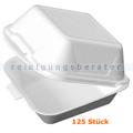 Lebensmittelschalen, Thermo Burger Box weiß, 125 Stück