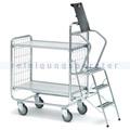Leiterwagen Serie 100, max. 200 kg 2 Etagen 1270x460x1120 mm