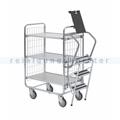 Leiterwagen Serie 100, max. 200 kg 3 Etagen 1270x460x1120 mm