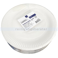 Lucky Einwegteller, Pappteller rund Ø 23 cm 100 Stück