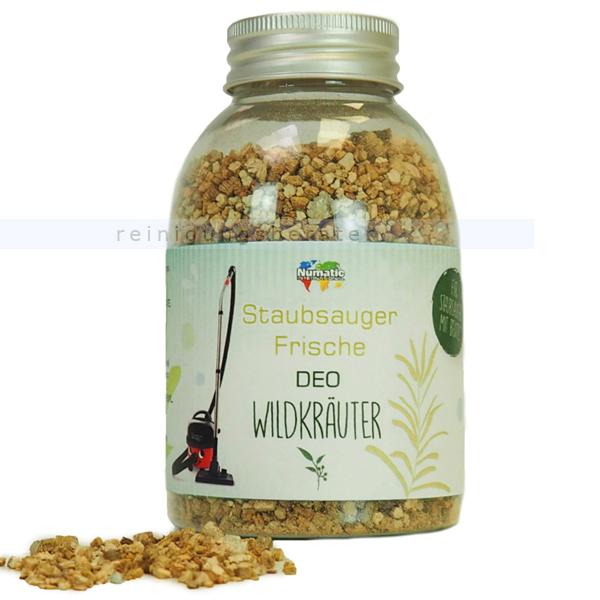 Lufterfrischer für Staubsauger Numatic Wildkräuter 250 ml Duftgranulat, Frische Deo, bis zu 10 Anwendungen 100805