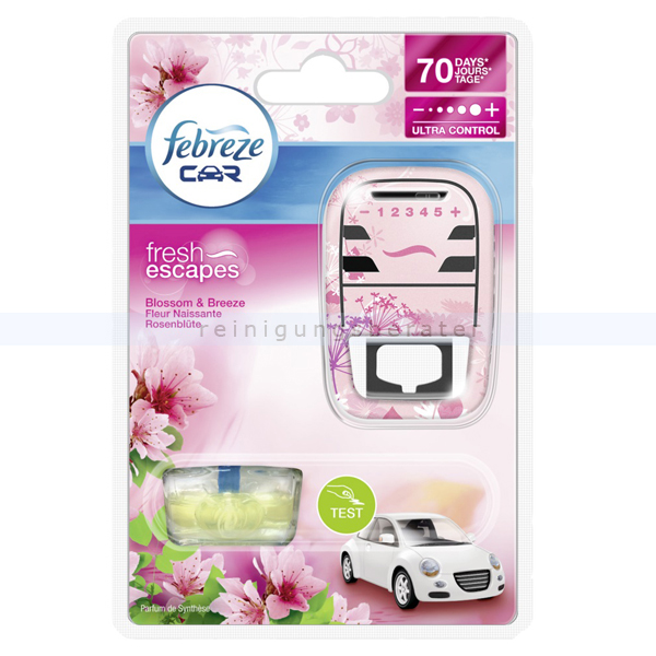 Lufterfrischer P&G Febreze Car Fresh Escapes Rosenblüte 7 ml