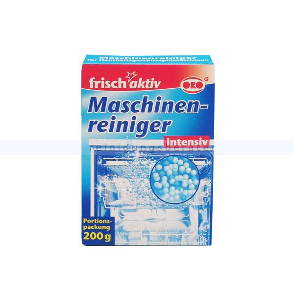 ORO-frisch-aktiv® Maschinenreiniger, Spülmaschinenreiniger Maschinenpfleger zur Reinigung von Geschirrspülmaschinen 4125