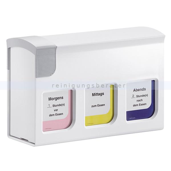 Medikamentendosierer Han medi-Timer 3-Fächer weiß Basis-Modul mit 3 Medikamentenboxen 7300-12