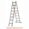 Mehrzweckleiter Hymer 2x10 Sprossen zweiteilig Walzprofil