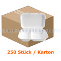 Menüschalen NatureStar BIO Lunchbox 2-geteilt 250 Stück