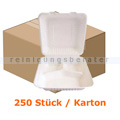 Menüschalen NatureStar BIO Lunchbox 3-geteilt 250 Stück