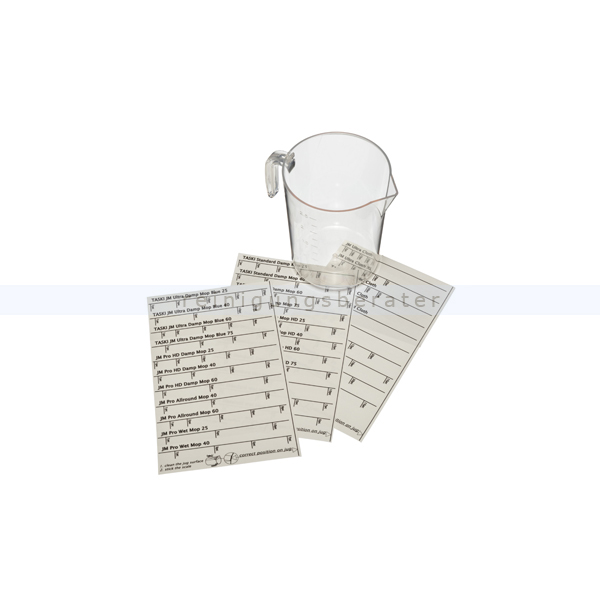 Messbecher Taski Sticker Set für Messbecher Sticker für Taski Messbecher 7522265