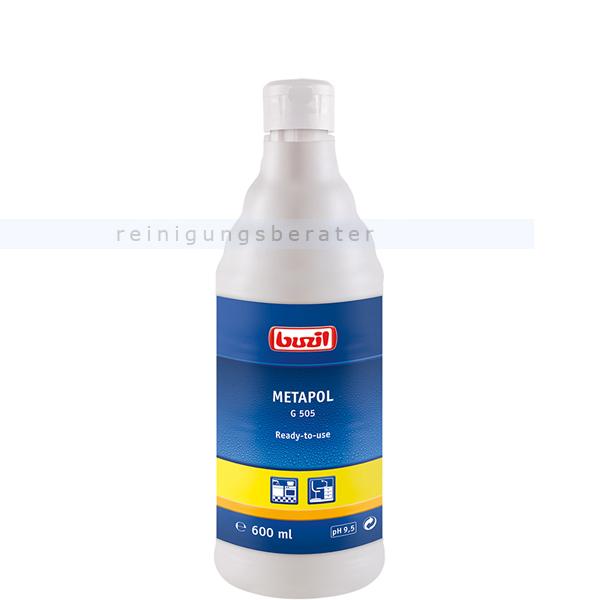 Metallpolitur Buzil G505 Metapol 600 ml Metallpolitur, geeignet für den Lebensmittelbereich G505-0600R4