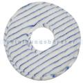Microfaserpad PolyPad blau-weiß mit Innenloch 254 mm 10 Zoll