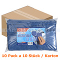 Microfasertuch Abena ENA Platin 32 x 32 cm blau Pack Karton