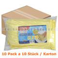 Microfasertuch Abena ENA Platin 32 x 32 cm gelb Pack Karton