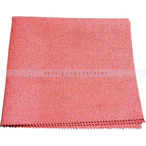 Microfasertücher 100 Stück Putztuch Größe 40 x 40 cm Rot//PinK//Rosa