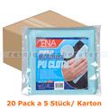 Microfasertuch ENA Ultra Tex PU Tuch 37x38 cm blau Karton