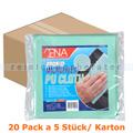 Microfasertuch ENA Ultra Tex PU Tuch 37x38 cm grün Karton
