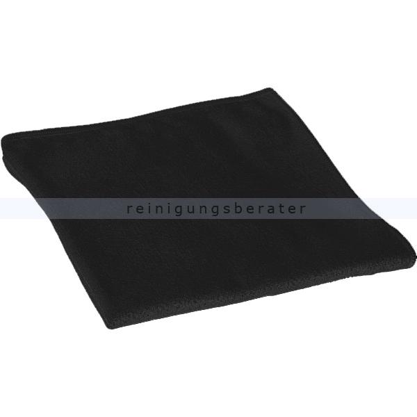 MEGA Clean Stretch Light Mikrofasertuch 40 x 40 cm schwarz 10 Stück Packung