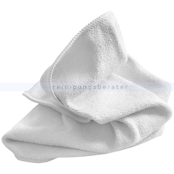 Microfasertuch Mega Clean, Stretch Light weiß 40x40 cm