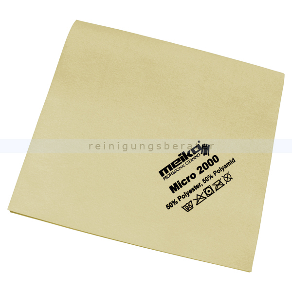 Microfasertuch Meiko Micro 2000 gelb 45x40 cm Tuch aus 100 % Microfaser, ca. 14 g 963429