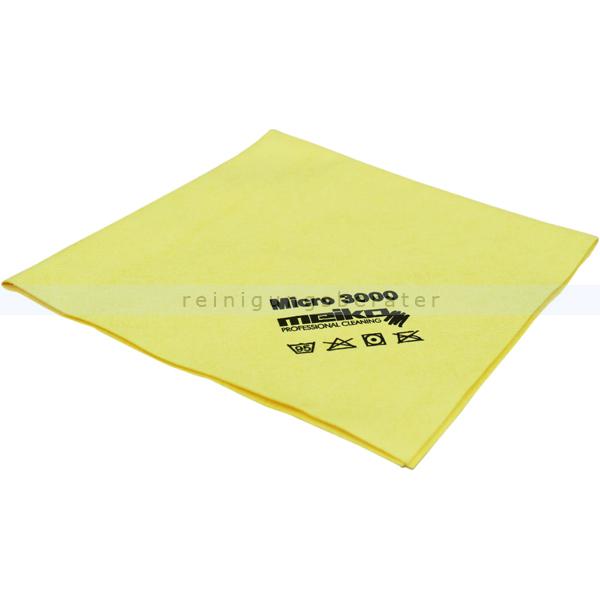 Microfasertuch Meiko Micro 3000 gelb 37x40 cm weiches Microfasertuch mit hoher Schmutzaufnahme 963365