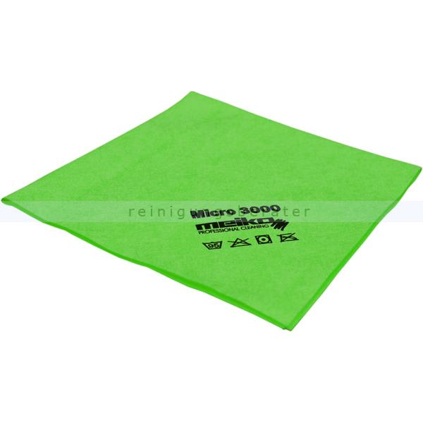 Microfasertuch Meiko Micro 3000 grün 37x40 cm weiches Microfasertuch mit hoher Schmutzaufnahme 963395