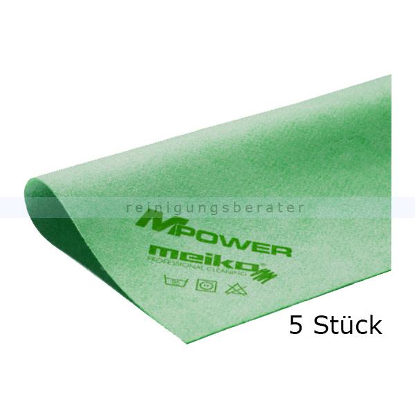 Microfasertuch Meiko MPower grün 40x40 cm - Küche 5er Pack, zur streifen- und fusselfreie Reinigung 966750
