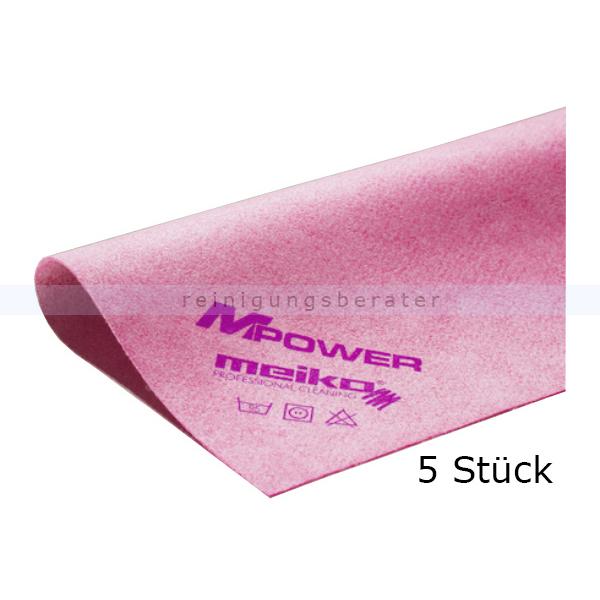 Microfasertuch Meiko MPower rot 40x40 cm - WC 5er Pack, zur streifen- und fusselfreie Reinigung 966730