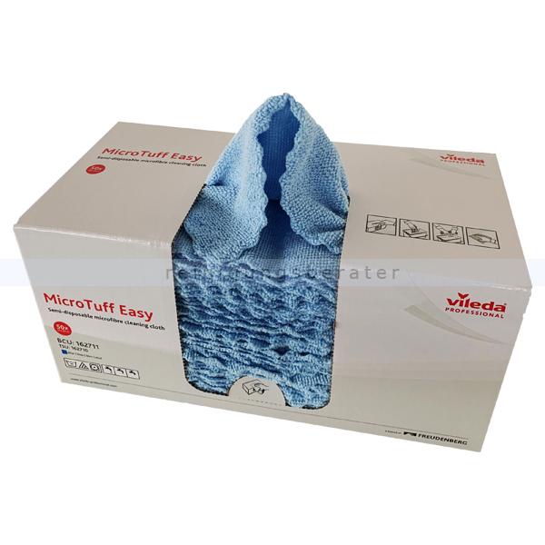 Microfasertuch MicroTuff Easy blau 30 x 30 cm, 50 Stück