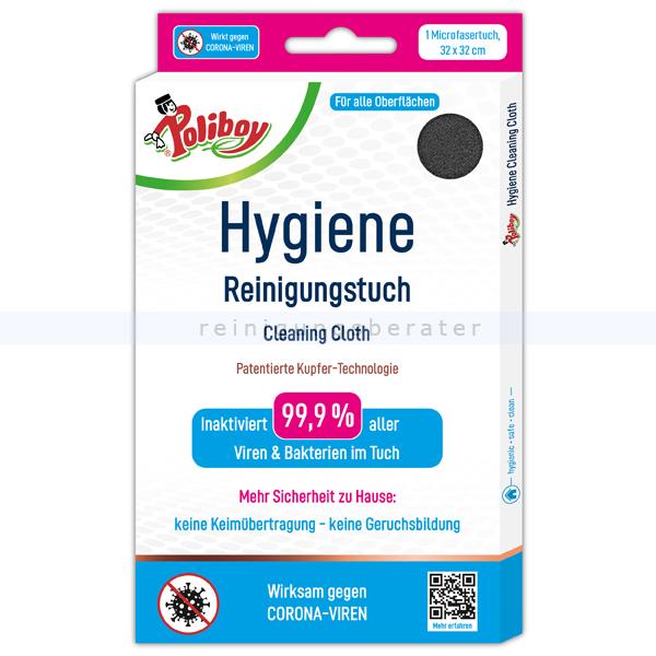 Microfasertuch Poliboy Hygiene Reinigungstuch 32 x 32 cm