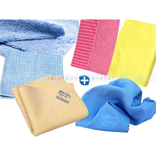 Microfasertuch Reinigungstuch SET, 6 Reinigungstücher