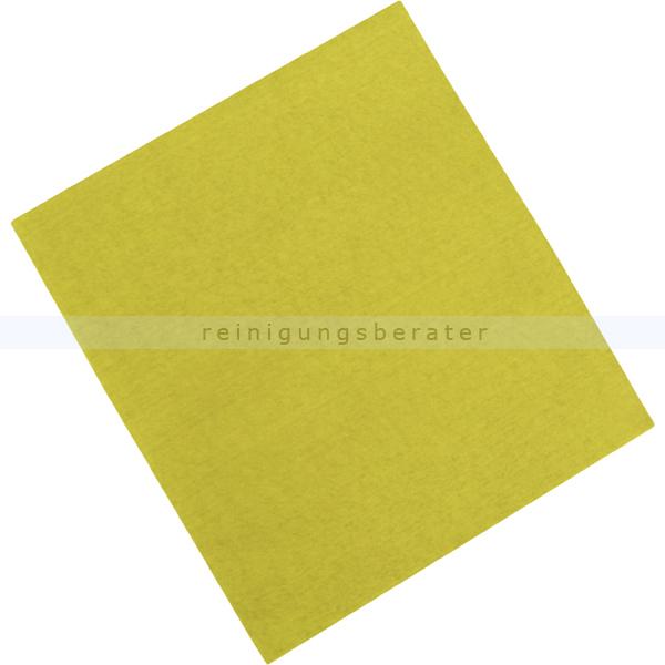Microfasertuch Rezi, Vliestuch gelb 45x40 cm Non-woven Tuch aus 100 % Microfaser, ca. 14 g