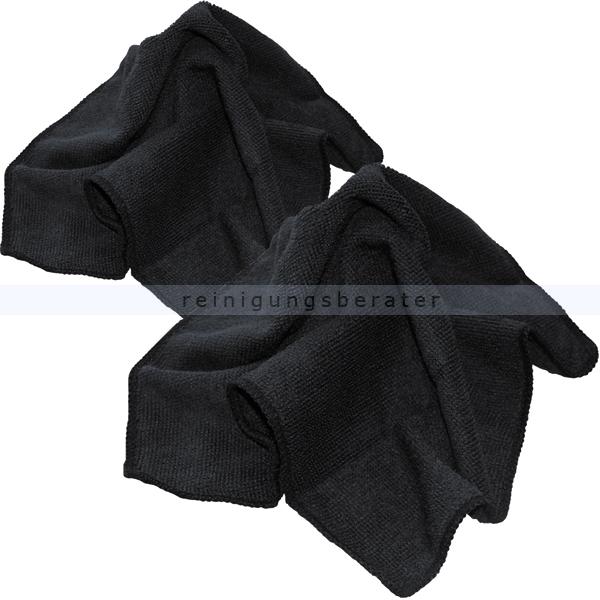 Microfasertuch schwarz 30x30 cm 2 Stück SET