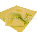 Microfasertuch Seidenvelours gelb 40x40 cm