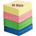 Microfasertuch SET, 20 Wischtücher in 4 Farben 40x40 cm