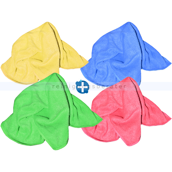 Microfasertuch SET, 4 Wischtücher in 4 verschiedenen Farben