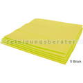 Microfasertuch Vileda MicroClean Plus gelb 40x45 cm 5 Stück