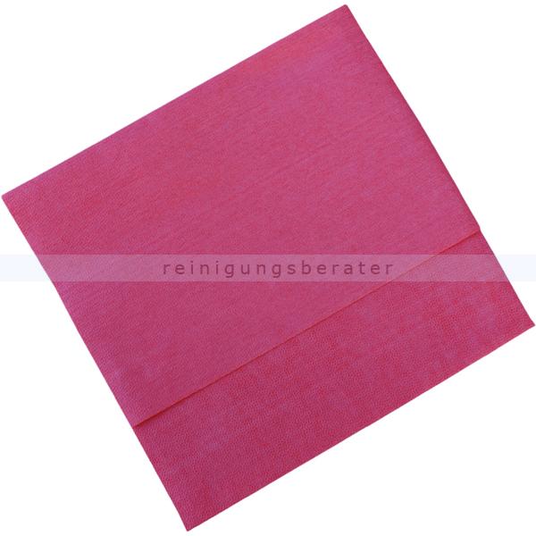 Vileda MicroClean Plus rot, Microfasertuch Premium Microfasertuch mit feiner Porenstruktur 152537