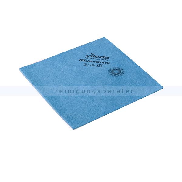 Vileda Micron Quick Microfastertuch, blau streifenfreie Oberflächenreinigung, hohe Zugfestigkeit 152109