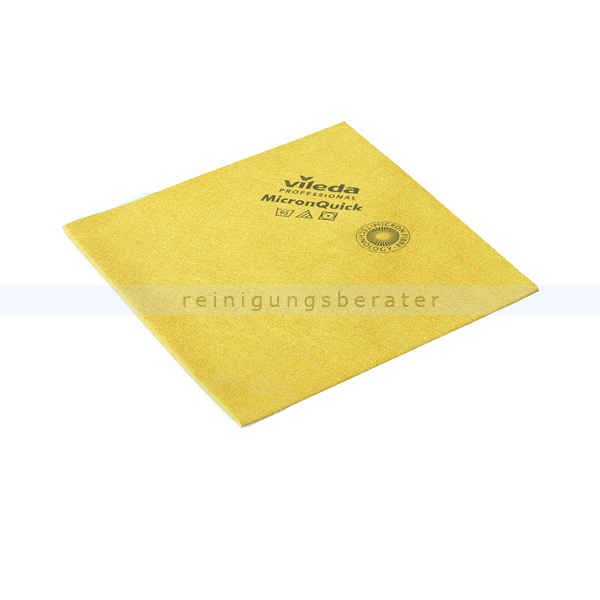 Vileda MicronQuick Microfasertuch, gelb streifenfreie Oberflächenreinigung, hohe Zugfestigkeit 152111