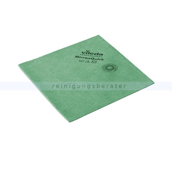 Microfasertuch Vileda MicronQuick grün streifenfreie Oberflächenreinigung, hohe Zugfestigkeit 152108